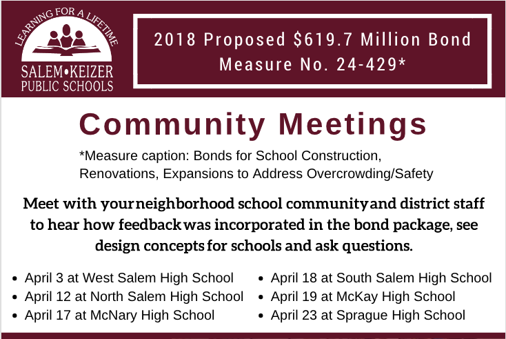 Bond community meeting dates