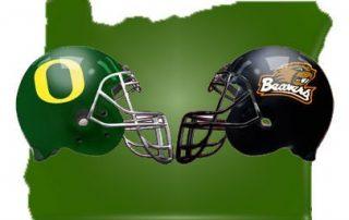 University of Oregon football vs Oregon State University football